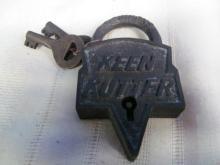 KEEN CUTTER ST. LOUIS, USA LOCK w/2 KEYS