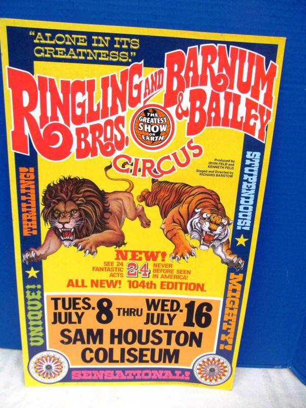 1974 RINGLING BROS. & BARNUM & BAILERY CIRCUSS POSTER