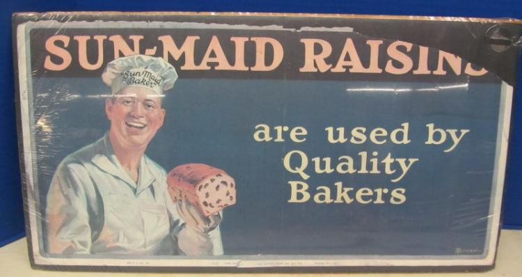 VINTAGE SUN~MAID RAISINS are used by Quality Bakers SIGN