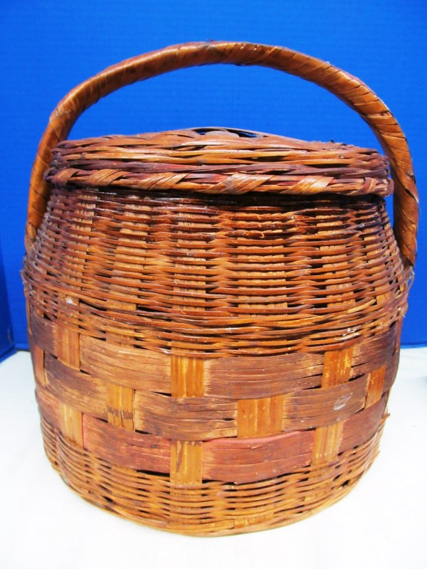 VINTAGE COVERED BASKET