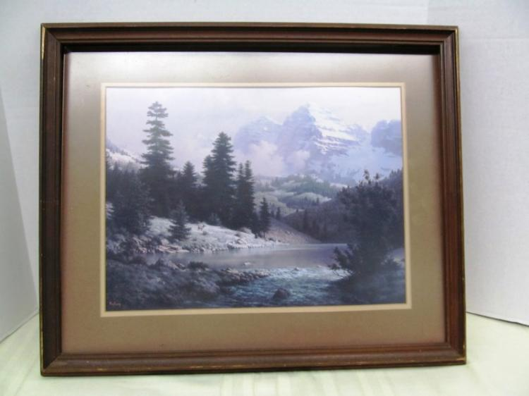 VINTAGE WYNDBERG LANDSCAPE ~ FRAMED UNDER GLASS