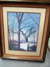 VINTAGE RON ATWOOD DUCK PRINT