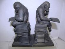 THINKING MONKEY W/BOOK BOOKENDS