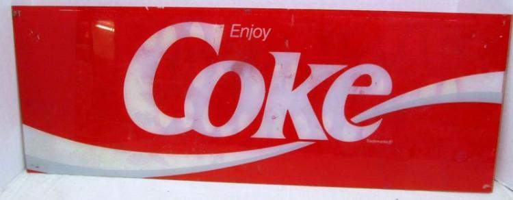 ACRYLIC ENJOY COKE SIGN (FROM MACHINE)