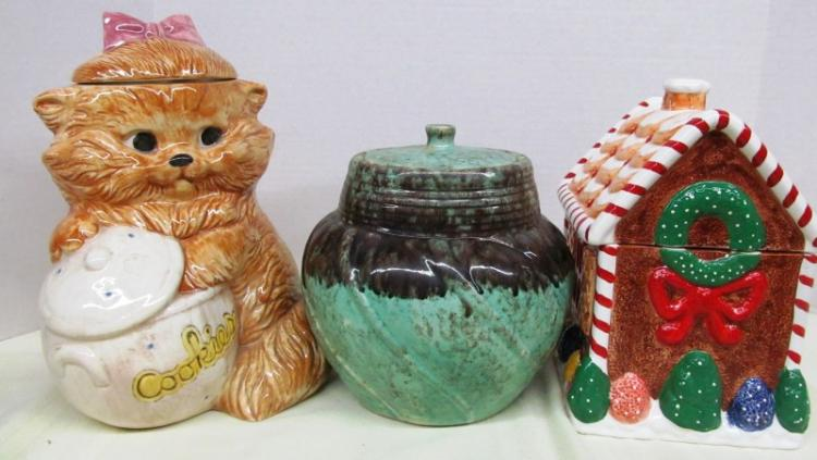 LOT OF 3 COOKIE JARS
