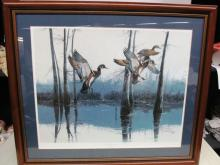 FRAMED ART ~ WOODIES AT LOST LAKE by PHILLIP CROWE ~ LIMITED EDITION ~ SIGNED ~ 529-950 ~ 30