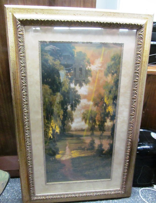 FRAMED ART ~ SUNBEAM IN THE WOODS ~ 46