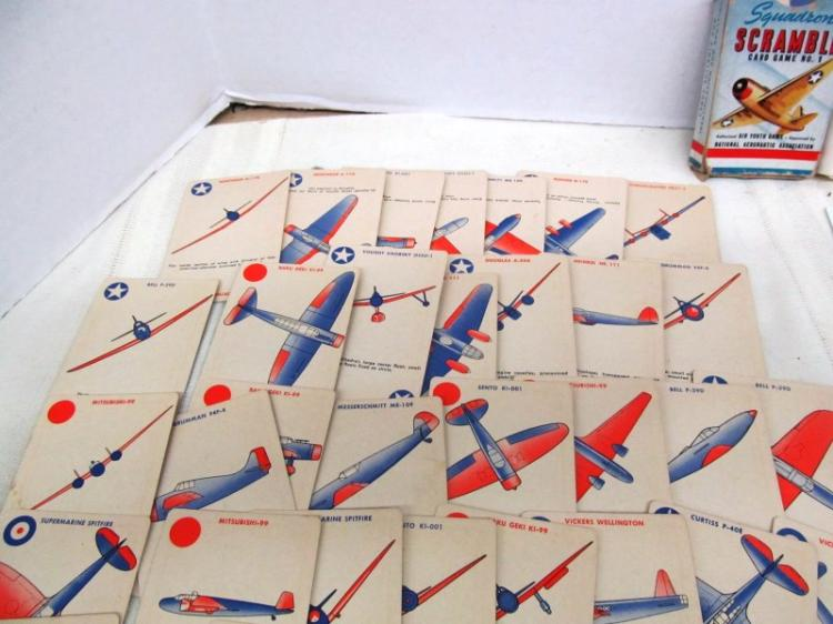 2 PACKS VINTAGE MILITARY PLAYING CARDS ~ SQUADRON SCRAMBLE & AIRCRAFT RECOGNITION