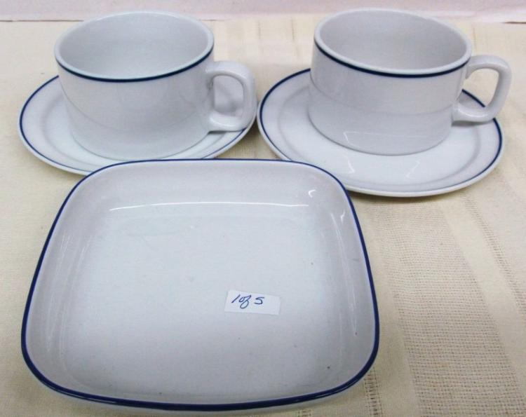 5 PIECES PFALTZGRAFF AMERICAN AIRLINES DISHES