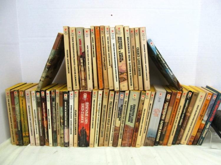 LOT OF 50+ LOUIS L'AMOUR PAPERBACK BOOKS