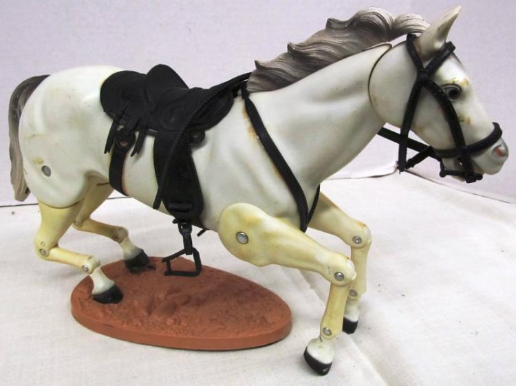 VINTAGE POSABLE TRIGGER (ROY ROGERS HORSE) ~ Note: tab broke off base