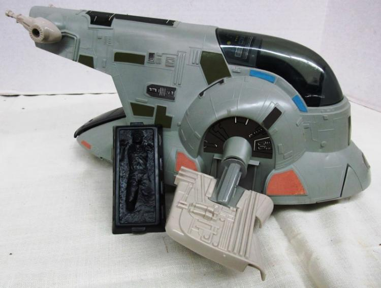 VINTAGE 1980 STAR WARS ~ THE EMPIRE STRIKES BACK ~ SLAVE I ~ BOBA FETT'S SPACESHIP IN ORIGINAL BOX ~ INCLUDES