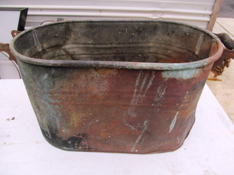 ANTIQUE COPPER PAIL ~ RUSTIC