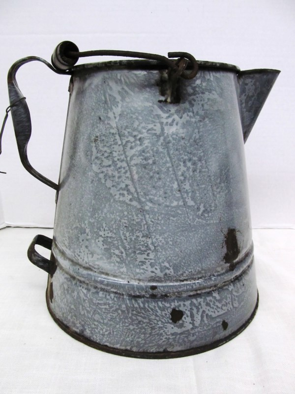 ANTIQUE ENAMEL COFFEE POT