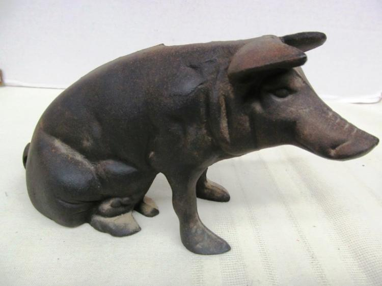 CAST IRON PIG BANK