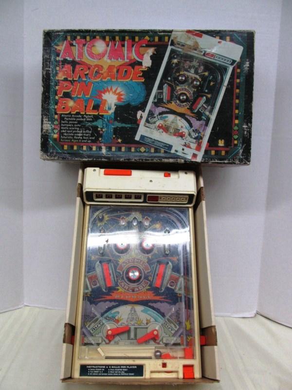 VINTAGE ATOMIC ARCADE PIN BALL MACHINE