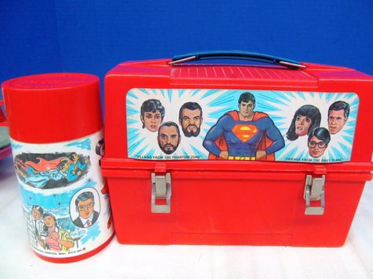 SUPERMAN ALADDIN LUNCHBOX w/THERMOS
