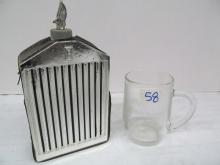 (58) Rolls Royce Whiskey Flask ~ Rolls Royce Cap ~ Rolls Royce Glass Mug & Ball Cap