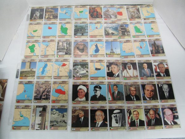 LOT OF 239 DESERT STORM TRADING CARDS ~ MILITARY