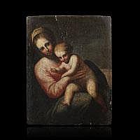 BAUGIN Lubin, attribué à - « Vierge à l'Enfant»