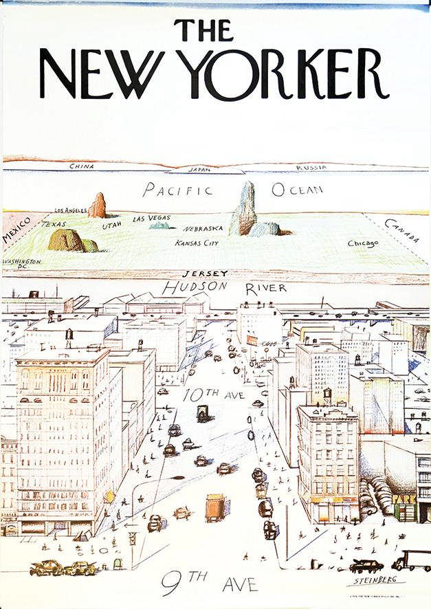 steinberg saul the new yorker affiche entoil e vintage pos. Black Bedroom Furniture Sets. Home Design Ideas