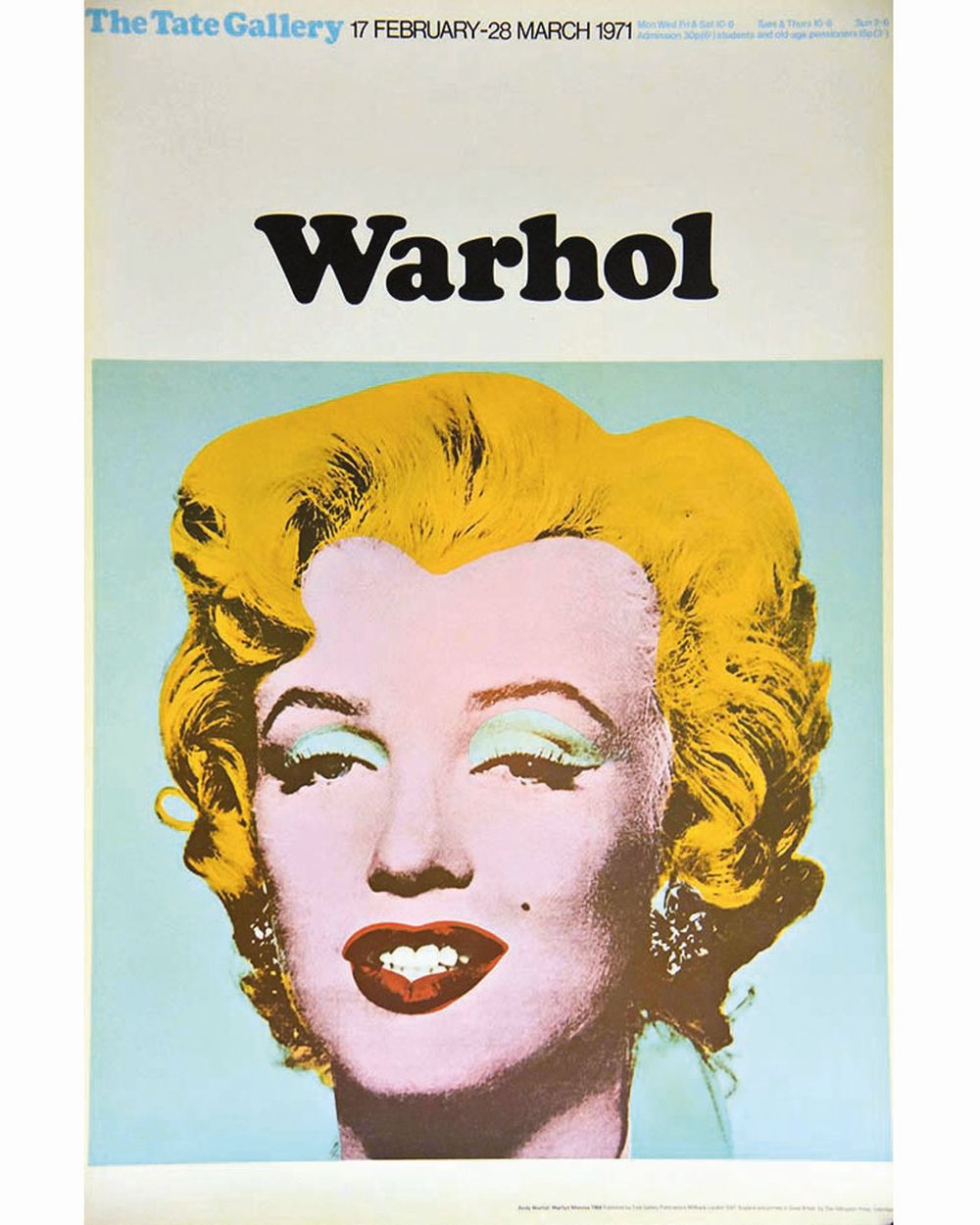 Andy Warhol Prix De Vente warhol andy - andy warholl - marilyn london the tate gallery