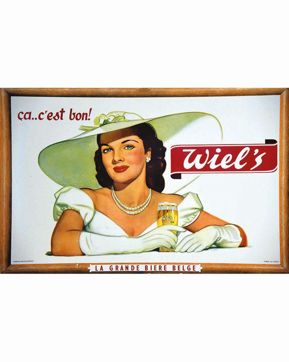 Wiel's Ah ça c'est bond La Garnde Bière Belge     vers 1950