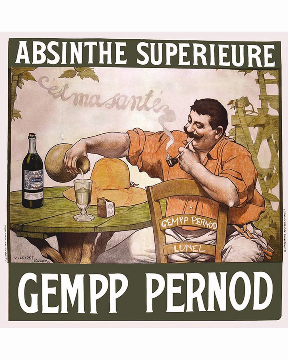 GOOZEE DAN - Gempp Pernot Absinthe Supérieure - C'est ma Santé     1904