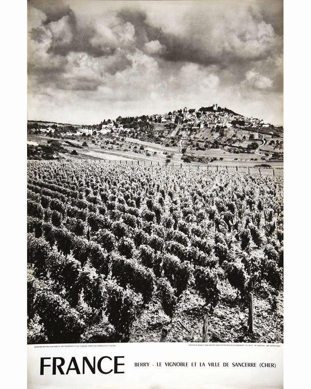 SARTONY - Sancerre Le Vignoble et la Ville Berry     1958