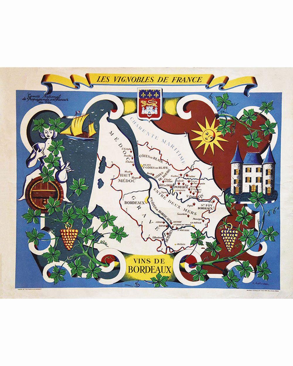 HETREAU H. - Vins de Bordeaux Les Vignobles de France     vers 1950