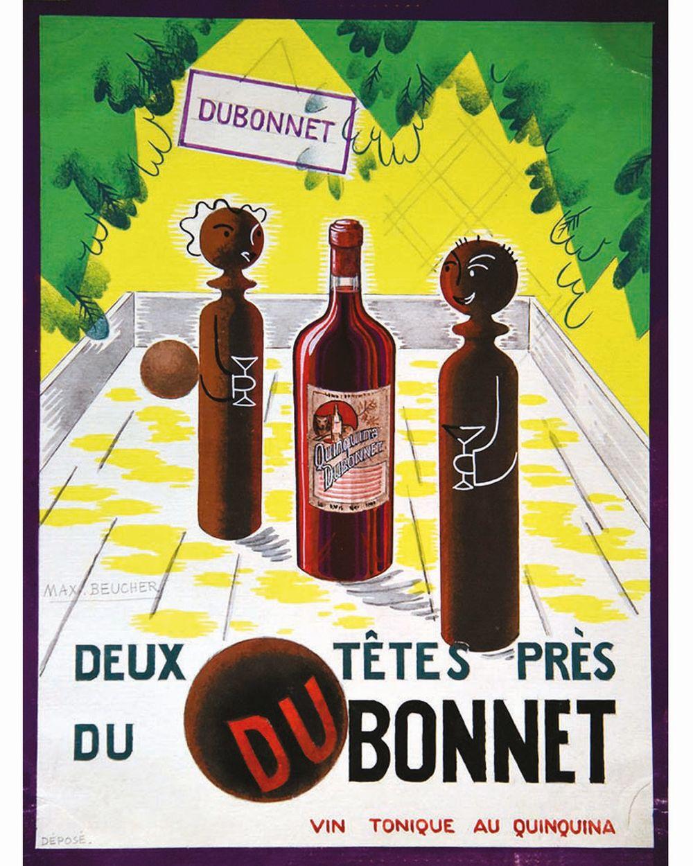 BEUCHER MAX - Dubonnet Deux Têtes près goauche de Max Beucher     vers 1960