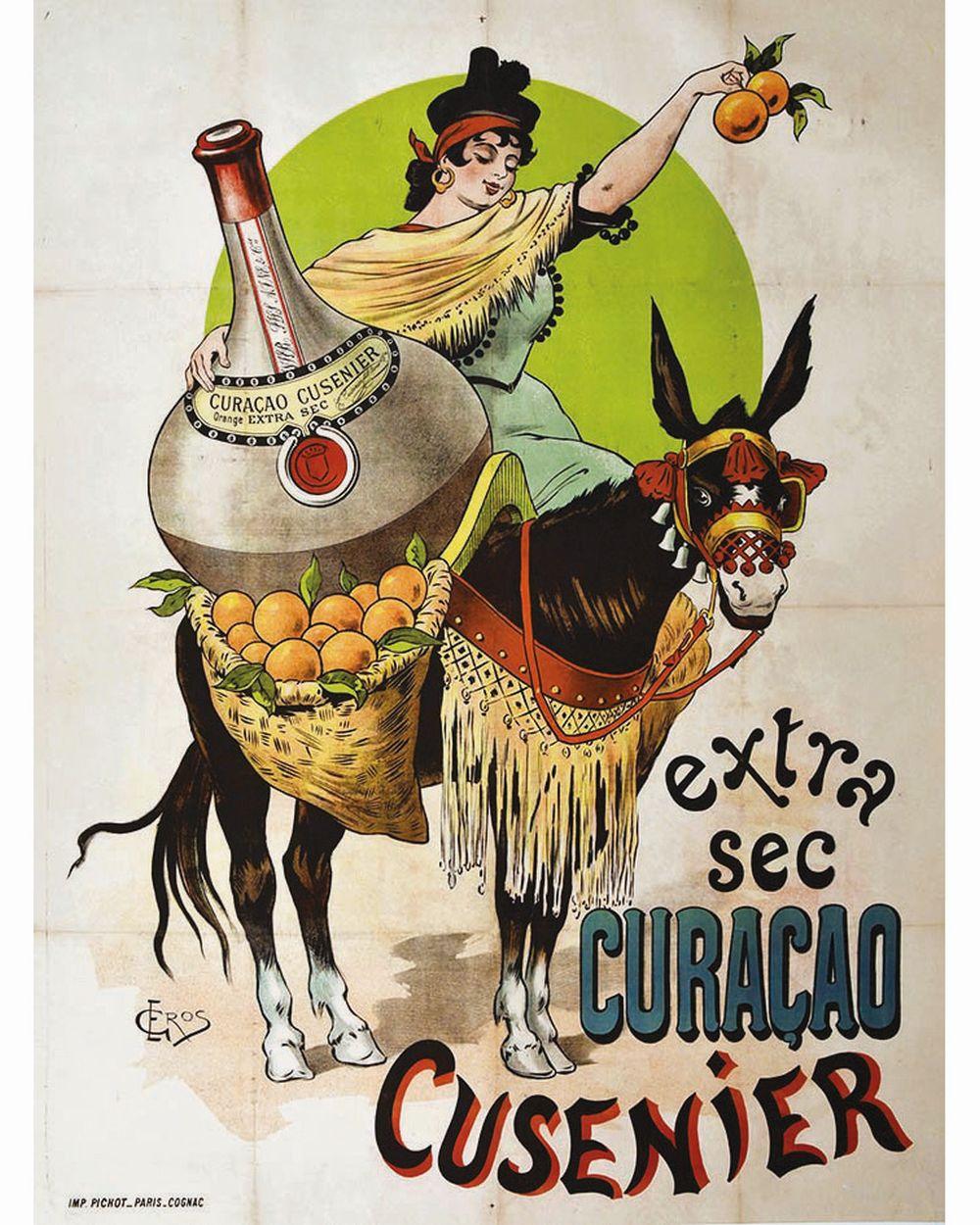 GROS E. - Curacao Cusenier     vers 1890
