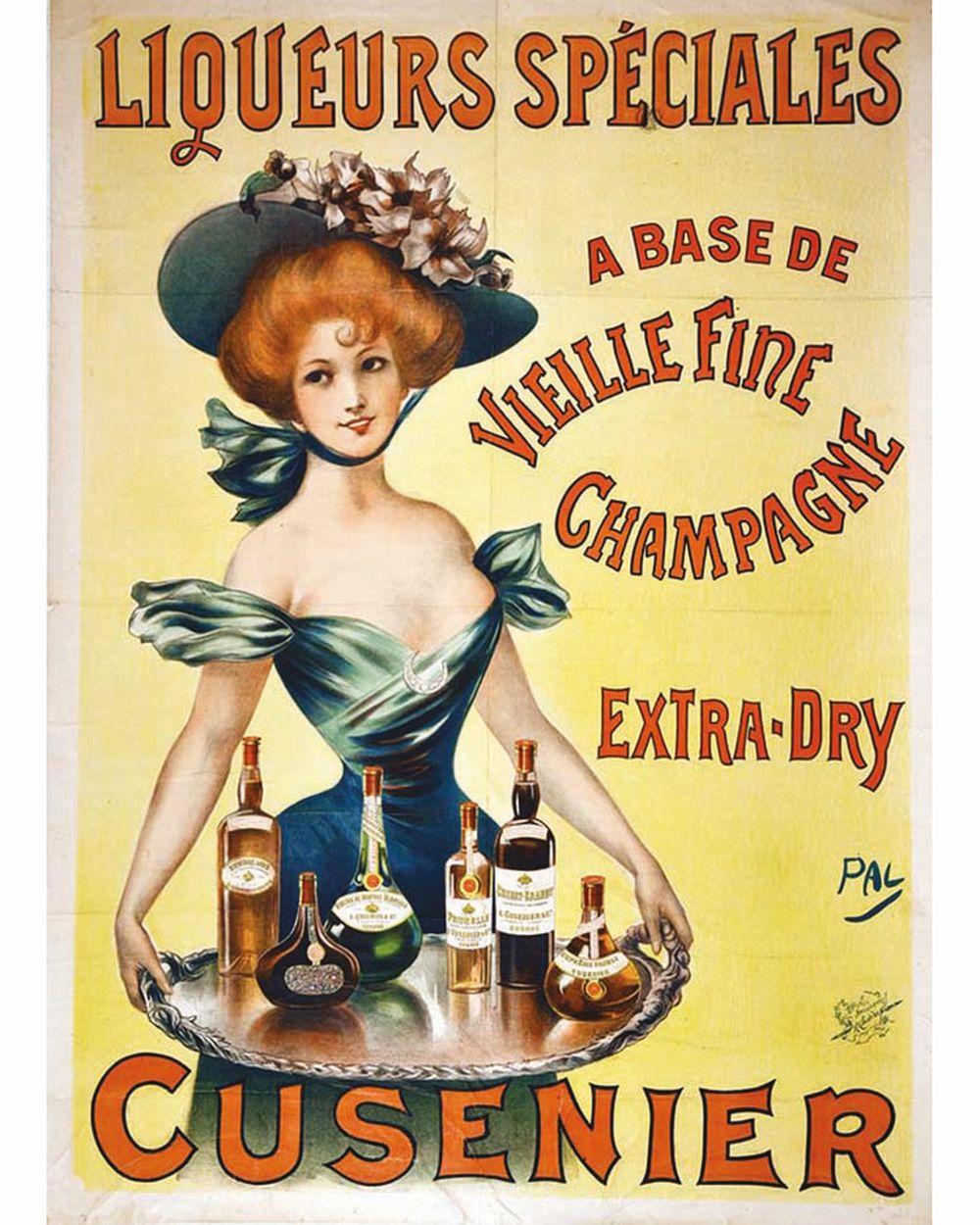 PAL - Cusenier - Liqueurs Spéciales     vers 1900  Ornans - Doubs