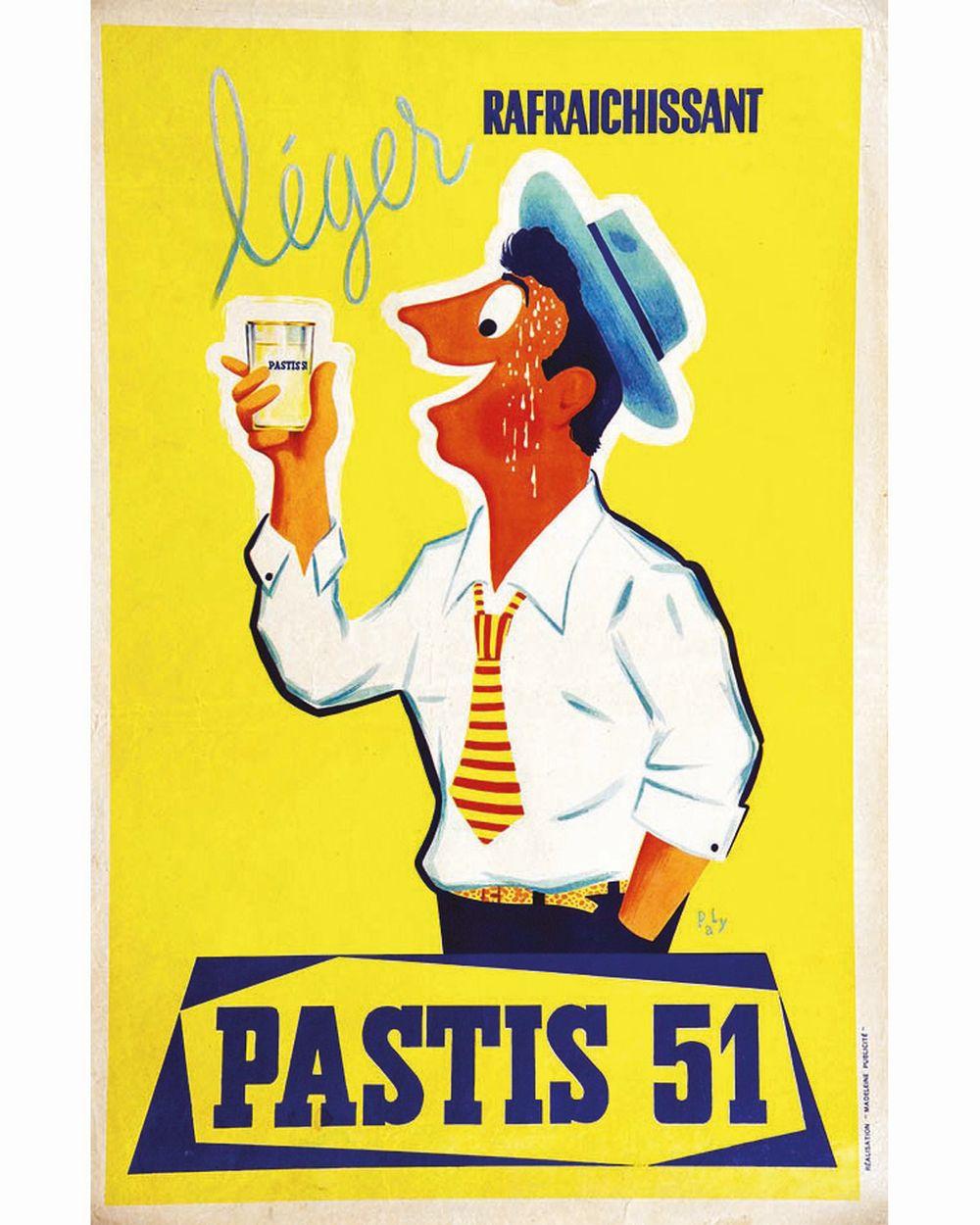 PLAY - Pastis 51 Léger Rafrachissant     vers 1950