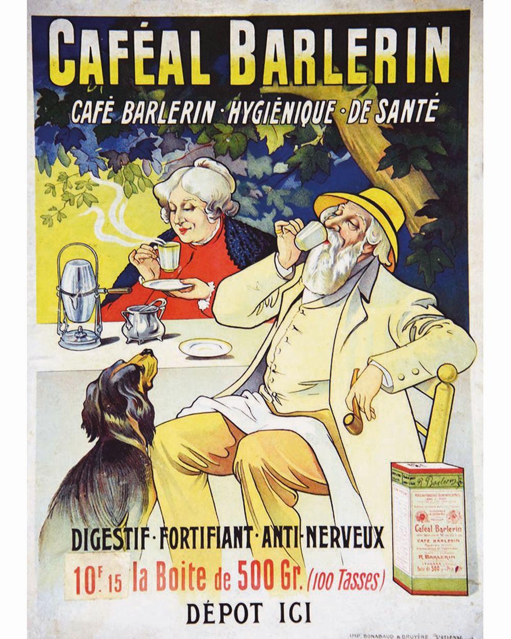 Caféal Barlerin Café Barlerin - Hygiénique de santé - Digestif, fortifiant, anti-nerveux     vers 1900  Tarare (Rhône)