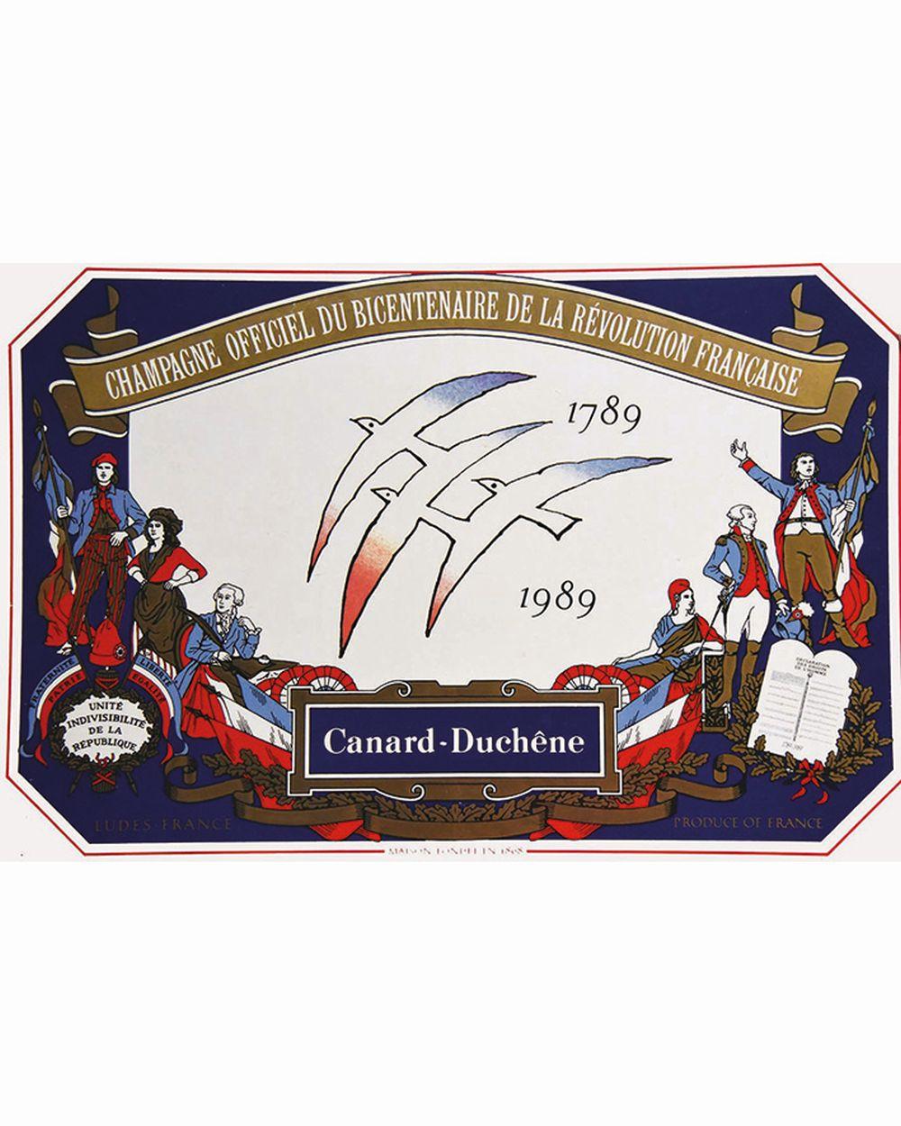 Canard Duchêne Champagne officiel du bicentenaire de la Révolution Française     1989