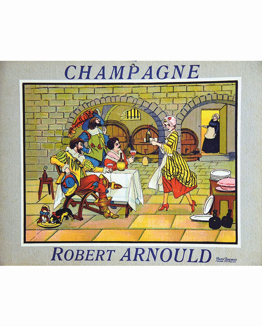 Champagne Robert Arnould     vers 1930  Reims (Marne)