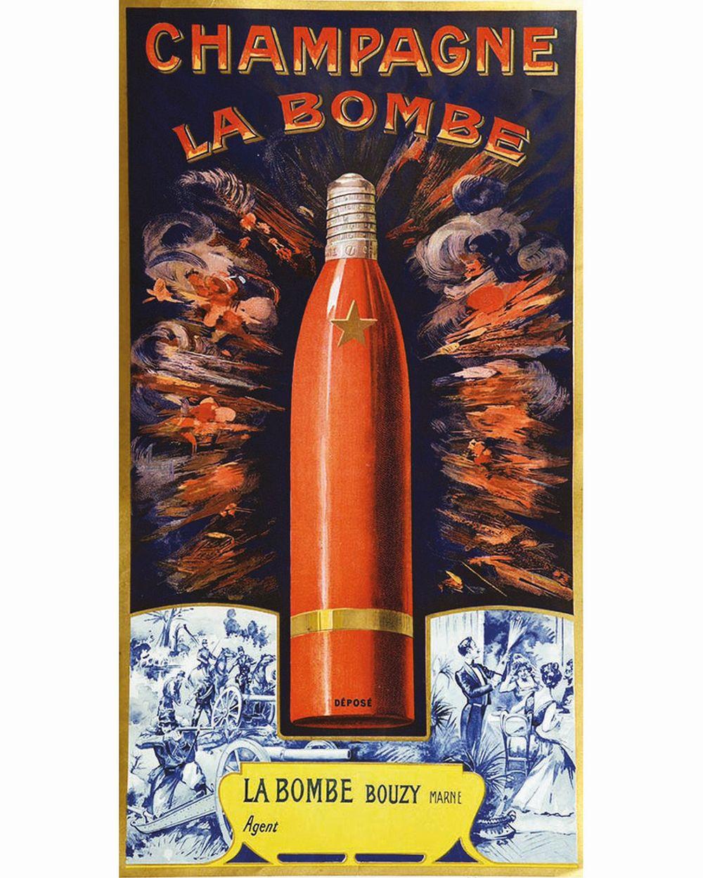 Champagne La Bombe     vers 1920  Bouzy ( Marne )