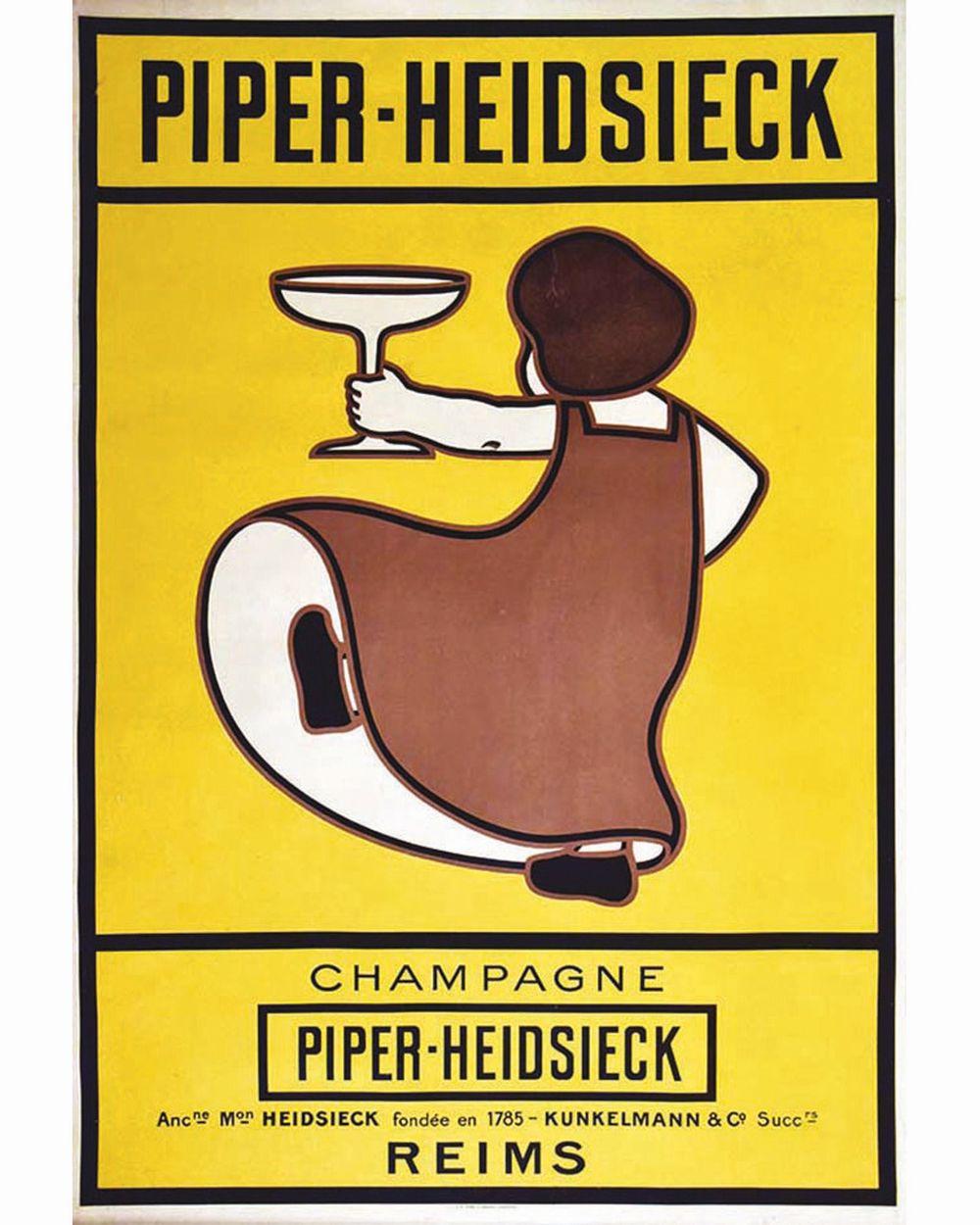 Champagne Piper-Heidsieck Ancienne Maison Heidsieck, fondée en 1785. Kunkelmann & Co successeurs.     vers 1900  Reims (Marne)
