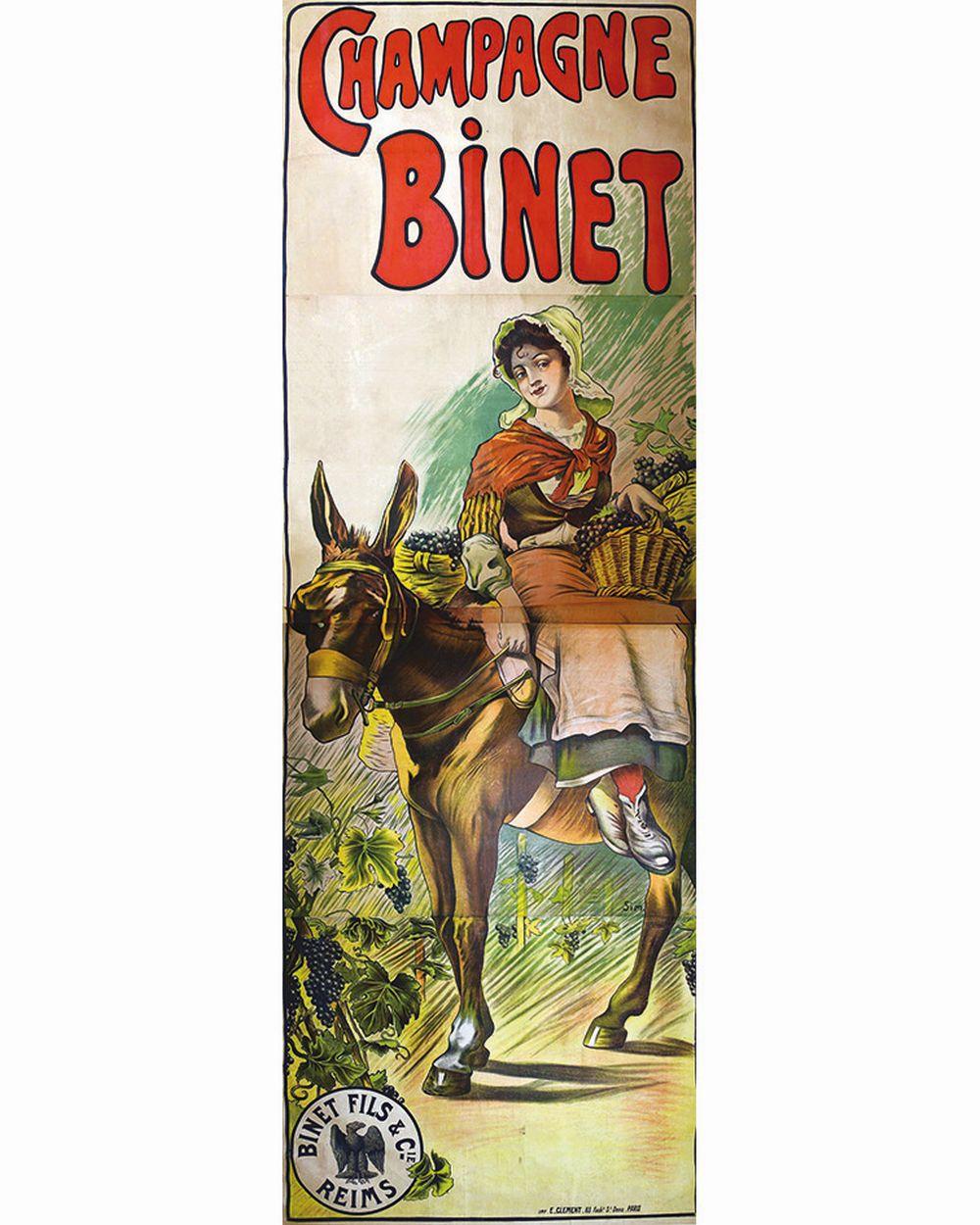 SIM - Champagne Binet     vers 1890  Reims (Marne)