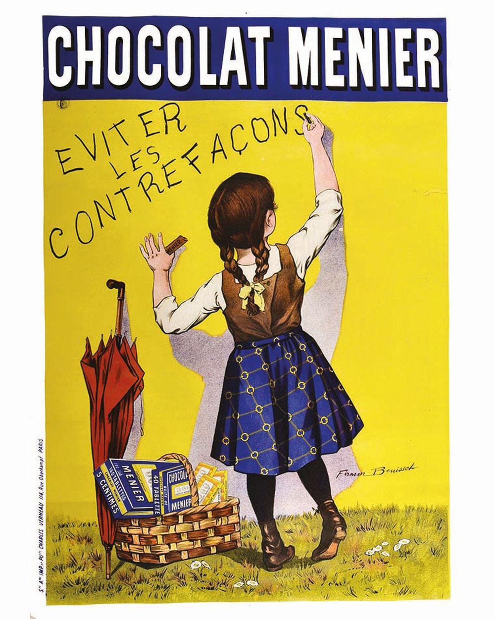 BOUISSET FIRMIN - Chocolat Menier - Eviter les Contrefacons     1895