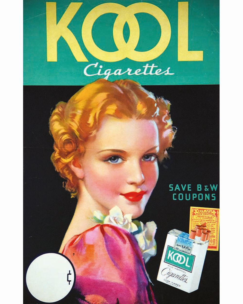 Kool Menthol     vers 1950