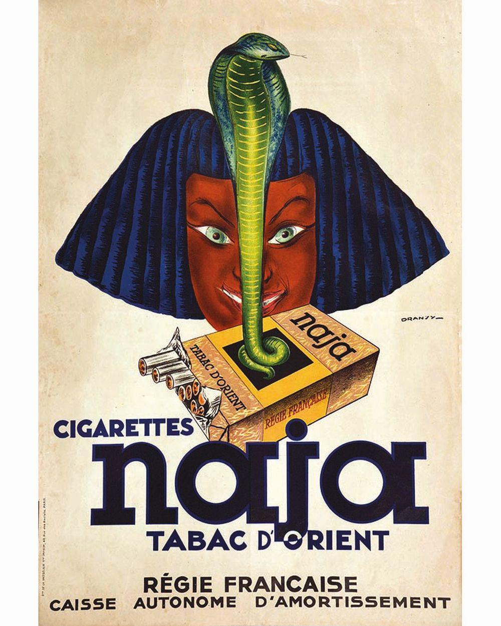 DRANSY - Cigarettes Naja Tabac d'Orient - Régie Française.     vers 1930