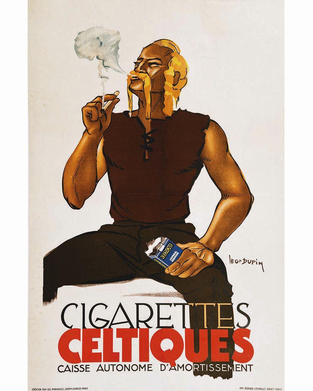 DUPIN LEON - Cigarettes Celtiques     1934
