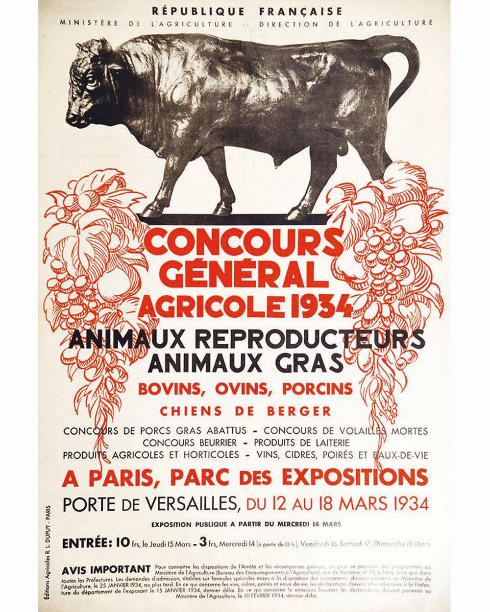 Bovins Ovins Porcins Concours Général Agricole 1934     1934