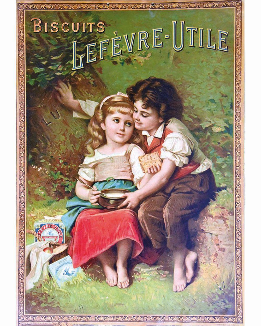 Biscuits Lefèvre Utile petit beurre     vers 1900  Nantes (Loire Atlantique)
