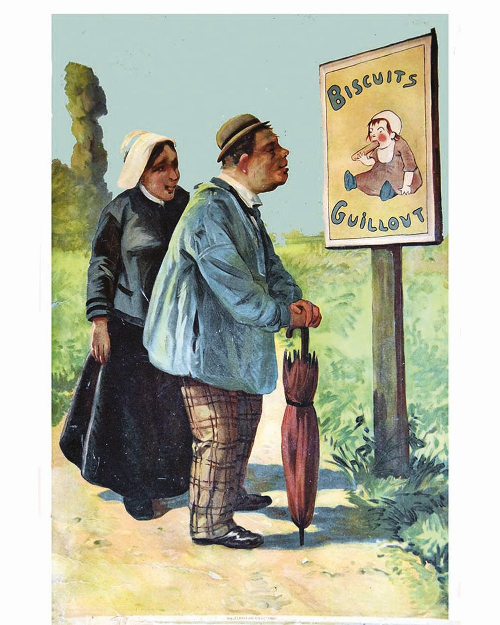 Biscuits Guillout ( couple )     vers 1900