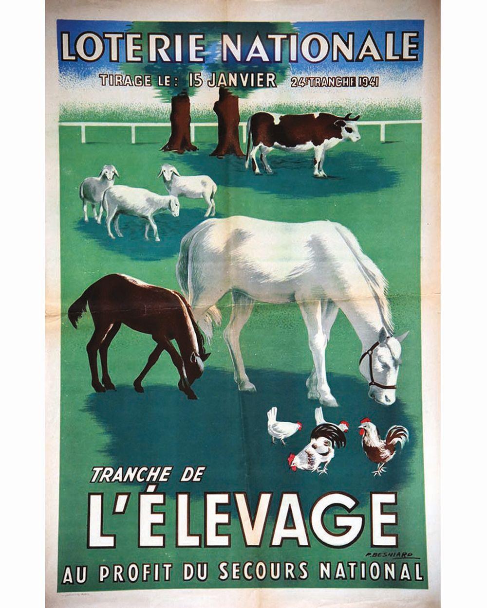 BESNIARD P. - L'élevage  Loterie Nationale     1941