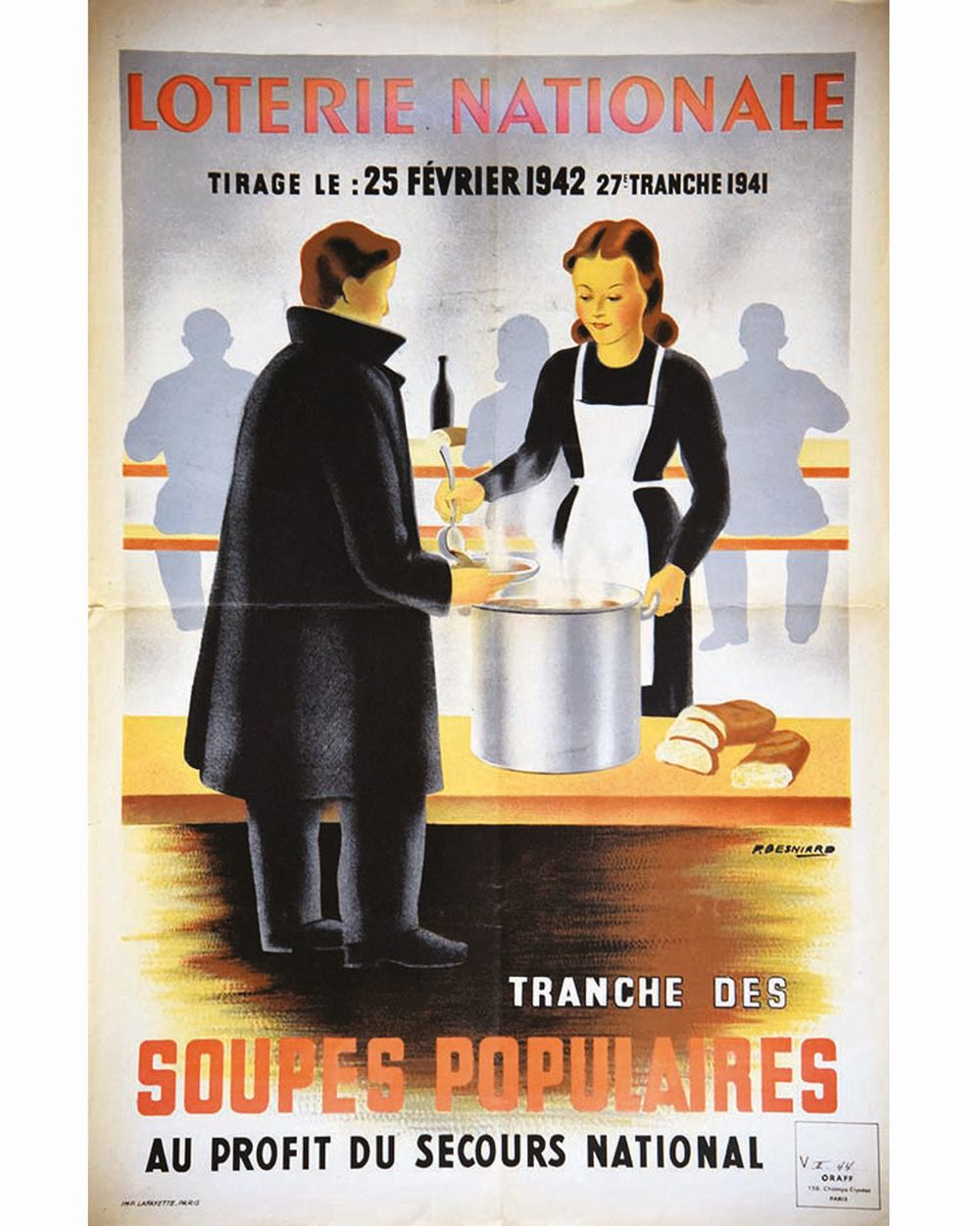 BESNIARD P. - Soupes Polulaires Loterie Nationale     1941