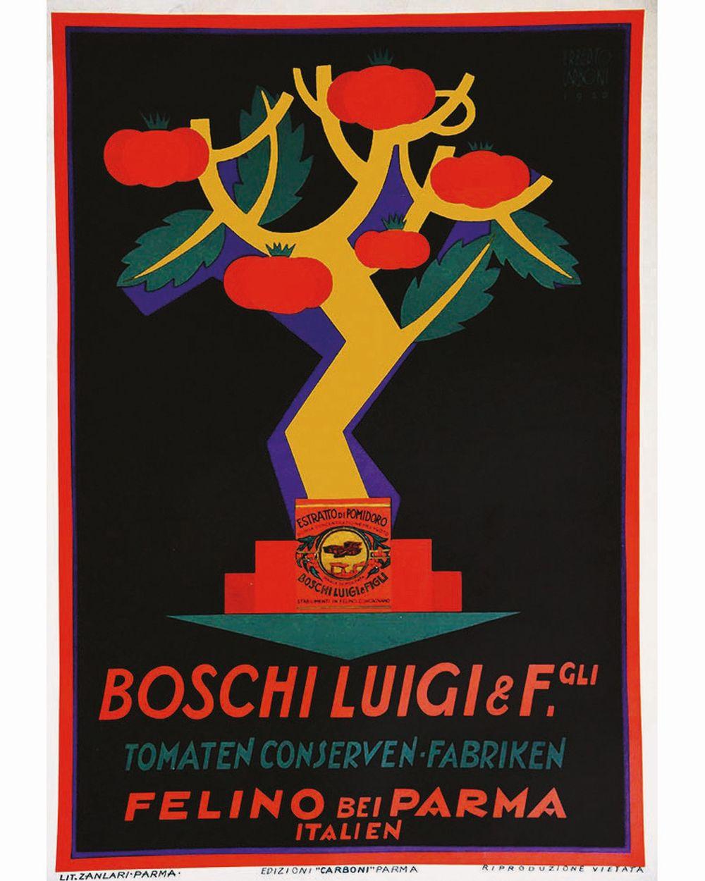 CARBONI ERBERTO - Boschi Luigi & Fgli Tomaten Conserven Fabriken     1926  Felino Bei Parma ( Italie )
